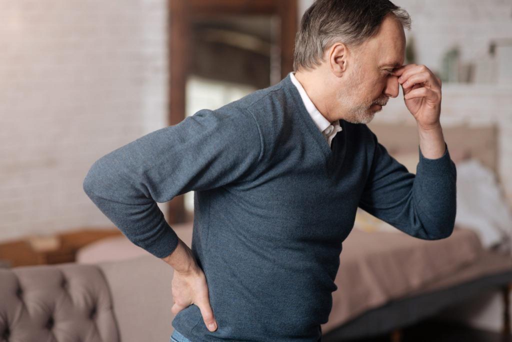 Jovem senhor sente os primeiros sintomas do Parkinson