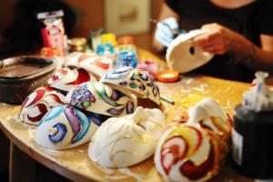 Comemorações em ILPI: máscaras feitas à mão